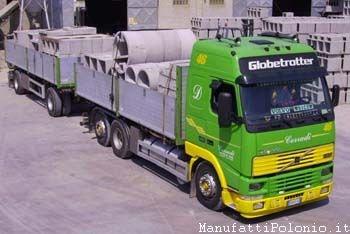 camion manufatti in cemento polonio
